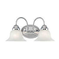 Livex 1532-05 Edgemont 2 Light 14 inch Polished Chrome Bath Light Wall Light