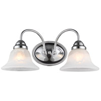 Edgemont 2 Light 14 inch Polished Chrome Bath Light Wall Light