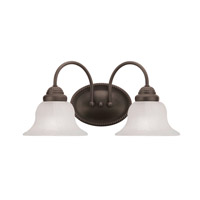 Edgemont 2 Light 17 inch Bronze Bath Light Wall Light