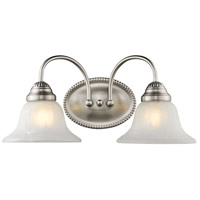 Edgemont 2 Light 14 inch Brushed Nickel Bath Light Wall Light