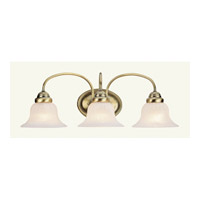 Livex 1533-01 Edgemont 3 Light 24 inch Antique Brass Bath Light Wall Light