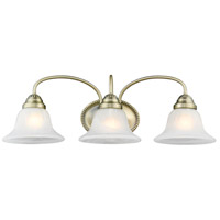 Edgemont 3 Light 24 inch Antique Brass Bath Light Wall Light