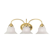 Livex 1533-02 Edgemont 3 Light 24 inch Polished Brass Bath Light Wall Light