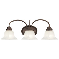 Livex 1533-07 Edgemont 3 Light 24 inch Bronze Bath Light Wall Light