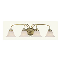 Livex 1534-01 Edgemont 4 Light 31 inch Antique Brass Bath Light Wall Light photo thumbnail