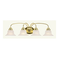 Livex 1534-02 Edgemont 4 Light 31 inch Polished Brass Bath Wall Light