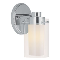 Manhattan 1 Light 5 inch Polished Chrome Bath Light Wall Light