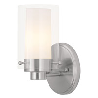 Livex Lighting Manhattan 1 Light Bath Light in Brushed Nickel 1541-91
