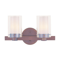 Livex Lighting Manhattan 2 Light Bath Light in Vintage Bronze 1542-70