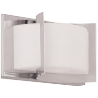 Livex 1611-05 Wave 1 Light 8 inch Polished Chrome Bath Light Wall Light