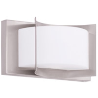 Wave 1 Light 8 inch Brushed Nickel Bath Light Wall Light