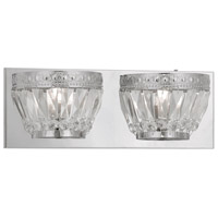 Livex Lighting Chromata 2 Light Bath Light in Polished Chrome 1632-05