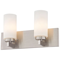 West Lake 2 Light 16 inch Brushed Nickel Vanity Light Wall Light