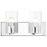 Livex 16552-05 Zurich 2 Light 15 inch Polished Chrome Vanity Sconce Wall Light