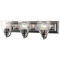 Livex 17073-46 Birmingham 3 Light 24 inch Black Chrome Vanity Sconce Wall Light