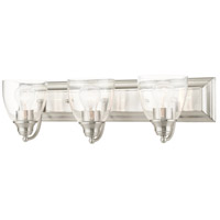 Livex 17073-91 Birmingham 3 Light 24 inch Brushed Nickel Vanity Sconce Wall Light