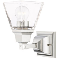 Livex 17171-05 Mission 1 Light 5 inch Polished Chrome Sconce Wall Light