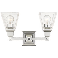Livex 17172-05 Mission 2 Light 15 inch Polished Chrome Vanity Sconce Wall Light