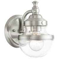 Livex 17411-91 Oldwick 1 Light 6 inch Brushed Nickel Vanity Sconce Wall Light