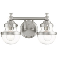 Livex 17412-91 Oldwick 2 Light 15 inch Brushed Nickel Vanity Sconce Wall Light