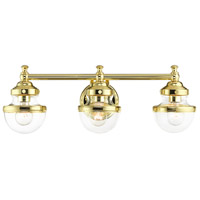 Livex 17413-02 Oldwick 3 Light 24 inch Polished Brass Vanity Sconce Wall Light