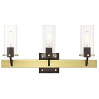Livex 17823-12 Beckett 3 Light 24 inch Satin Brass Vanity Sconce Wall Light