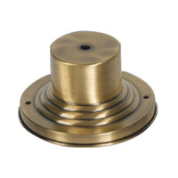 Livex Lighting Outdoor Accessory Outdoor Pier Mount Adaptor in Antique Brass 2001-01