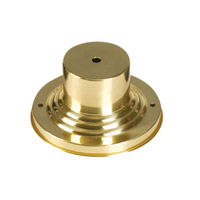 Outdoor Accessory 3 inch Polished Brass Outdoor Pier Mount Adaptor