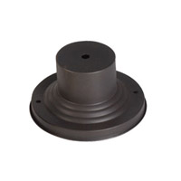 Livex 2001-07 Outdoor Accessory 3 inch Bronze Outdoor Pier Mount Adaptor