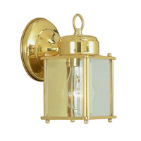 Livex Lighting Outdoor Basics 1 Light Outdoor Wall Lantern in Polished Brass 2005-02