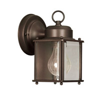 Livex Lighting Outdoor Basics 1 Light Outdoor Wall Lantern in Bronze 2005-07