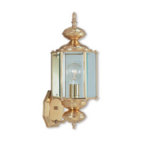 Outdoor Basics 1 Light 17 inch Polished Brass Outdoor Wall Lantern
