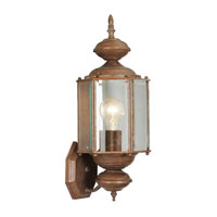 Livex Outdoor Basics 1 Light Outdoor Wall Lantern in Weathered Brick 2006-18
