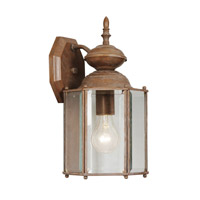 Outdoor Basics 1 Light 13 inch Weathered Brick Outdoor Wall Lantern