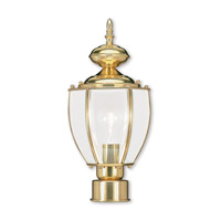 Livex 2009-02 Outdoor Basics 1 Light 16 inch Polished Brass Outdoor Post Head