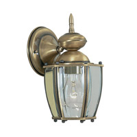 Livex Limited 1 Light Outdoor Wall Lantern in Antique Brass 2010-01