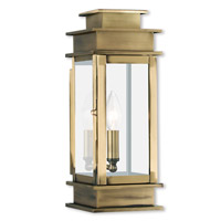 Livex Lighting Princeton 1 Light Outdoor Wall Lantern in Antique Brass 2013-01