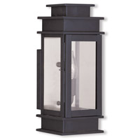 Livex 2013-07 Princeton 1 Light 14 inch Bronze Outdoor Wall Lantern