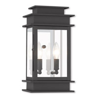 Livex Lighting Princeton 2 Light Outdoor Wall Lantern in Black 2014-04