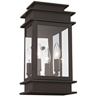 Princeton 2 Light 14 inch Bronze Outdoor Wall Lantern
