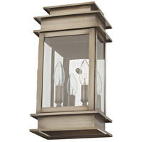 Livex 2014-29 Princeton 2 Light 14 inch Vintage Pewter Outdoor Wall Lantern