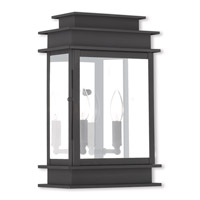 Livex Lighting Princeton 2 Light Outdoor Wall Lantern in Black 2016-04