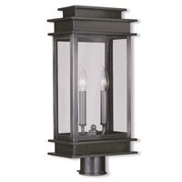 Livex Lighting Princeton 2 Light Outdoor Post Head in Vintage Pewter 2017-29