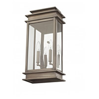Princeton 2 Light 19 inch Vintage Pewter Outdoor Wall Lantern