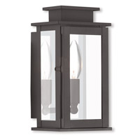 Livex 20191-07 Princeton 1 Light 9 inch Bronze Outdoor Wall Lantern
