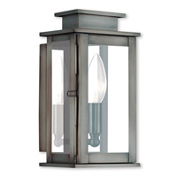 Livex 20191-29 Princeton 1 Light 9 inch Vintage Pewter Outdoor Wall Lantern