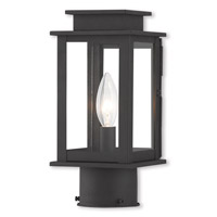 Livex 20201-04 Princeton 1 Light 11 inch Black Post Lantern