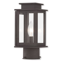 Livex 20201-07 Princeton 1 Light 11 inch Bronze Post Lantern