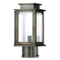 Livex 20201-29 Princeton 1 Light 11 inch Vintage Pewter Post Lantern