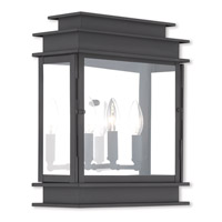 Livex 20204-04 Princeton 3 Light 15 inch Black Outdoor Wall Lantern